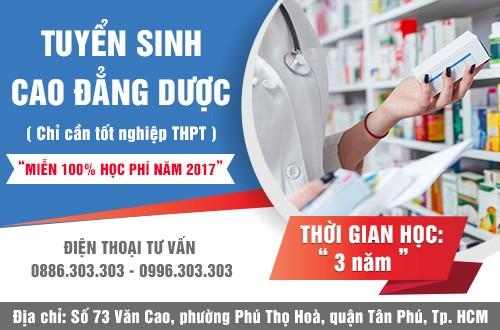 Tuyen-sinh-cao-dang-duoc-tphcm-mien-100-hoc-phi-nam-2017