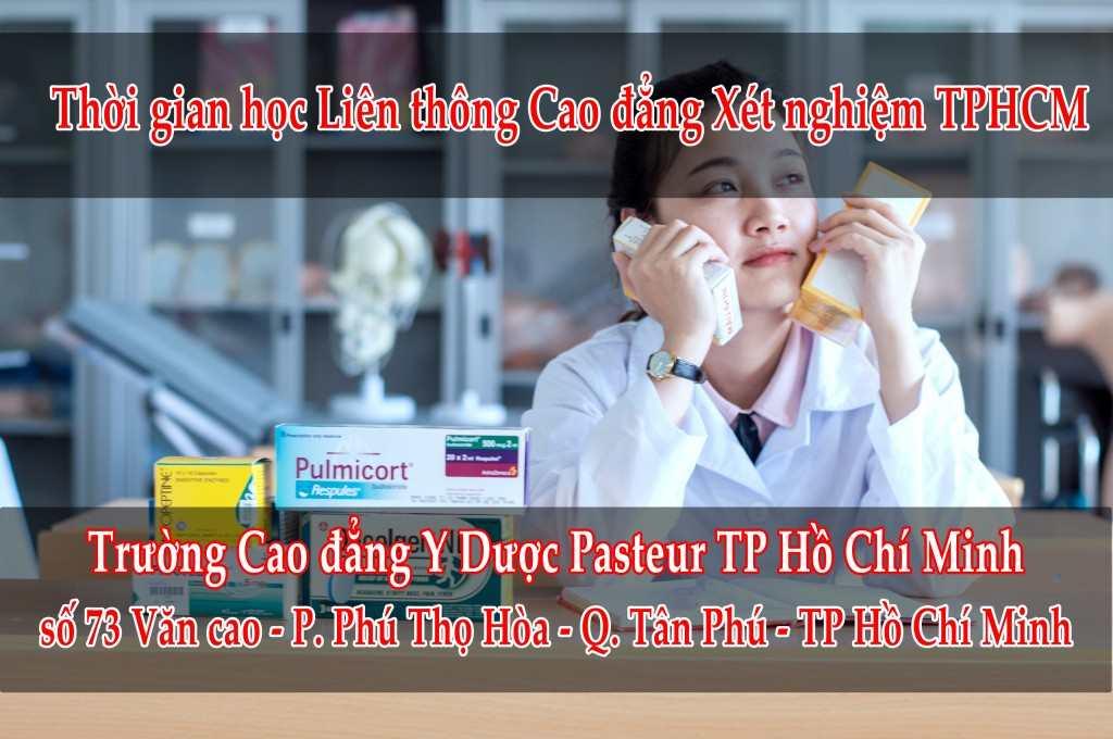 thời gian học liên thông cao đẳng xét nghiệm tphcm